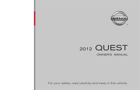 old car owners manuals 2012 nissan nv2500 on board diagnostic system 2012 quest owner s manual