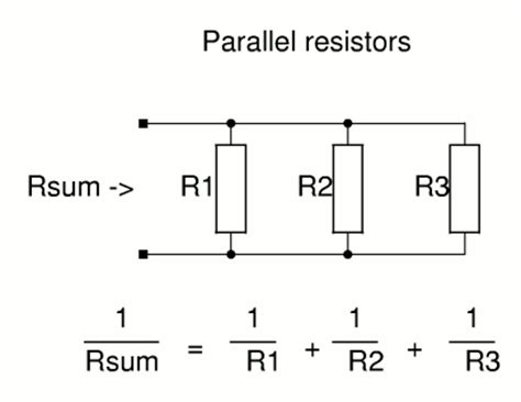 formula for resistors in parallel circuits calculators for electronic circuit design