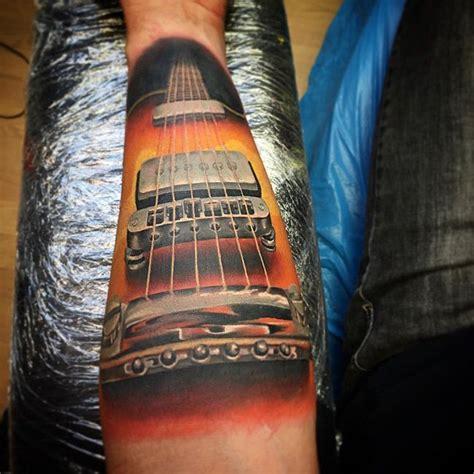 tattoo 3d guitar http tattooideas247 com guitar forearm piece guitar