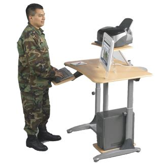 stand up computer desk on wheels casters stand up computer stand