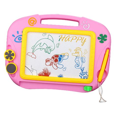 Drawing Board Magnetic Board Karakter 1 colorful magnetic writing drawing board sketching pad erasable doodle sketch learning with 2