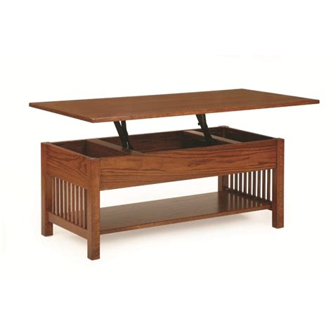 mission lift top coffee table amish mission lift top