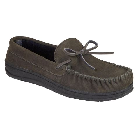 mens slippers at sears route 66 s suede leather moccasin slipper