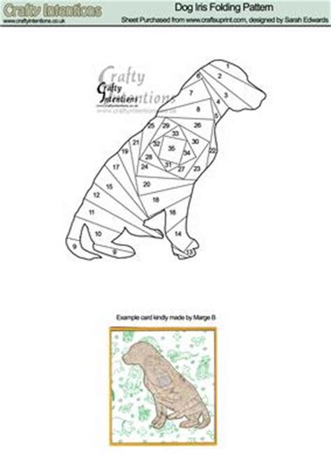 printable folding zoo animals dog iris folding pattern cup22473 172 craftsuprint