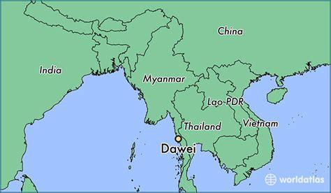 dawei myanmar dawei tanintharyi map worldatlascom