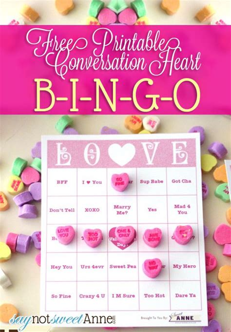 Conversation Hearts Bingo Cards Template by 25 Best Ideas About Bingo On
