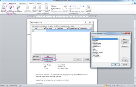 membuat mail merge word 2010 ukhtifillah langkah langkah membuat mail merge pada word 2010