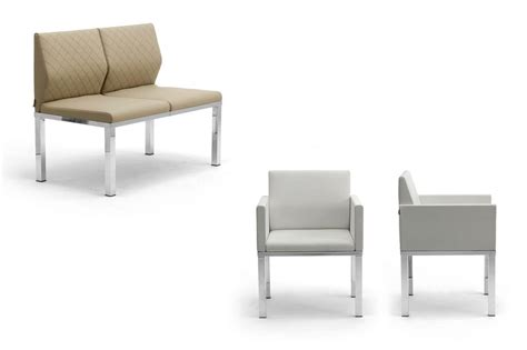 Sofa Table With Seating Bench With Upholstered Seats And A Table For Waiting Rooms