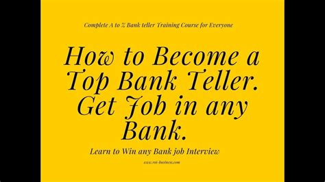 how to become bank teller 2018 bank teller