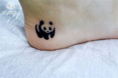 tattoo de panda feminina panda no pe foto 3149 mundo das tatuagens