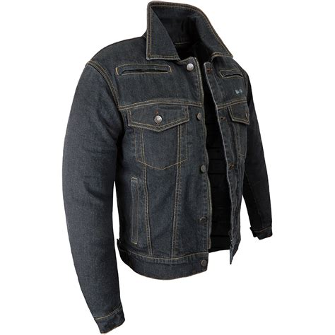 bike jackets rida tec black denim bike jacket