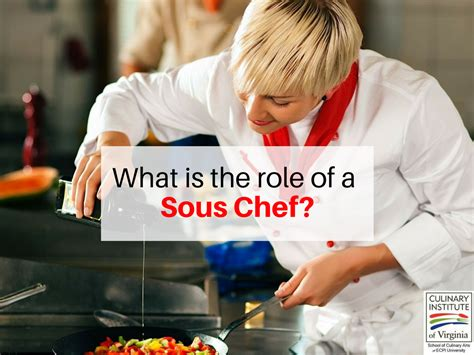 Sous Chef what does a sous chef do in the kitchen