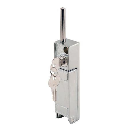 Patio Door Lock Key Prime Line Aluminum Keyed Patio Door Header Lock U 9997 The Home Depot