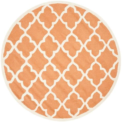 Coral Area Rug Safavieh Cambridge Coral Ivory 6 Ft X 6 Ft Area Rug Cam312w 6r The Home Depot