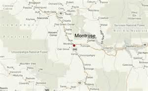 map of montrose colorado montrose location guide