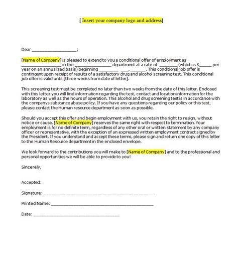 sample letter offer acceptance template edit