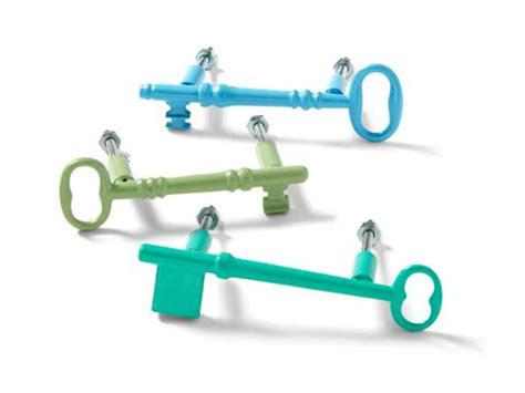 Colorful Drawer Pulls by Colorful Key Drawer Pulls In Blues And Greens Decoist