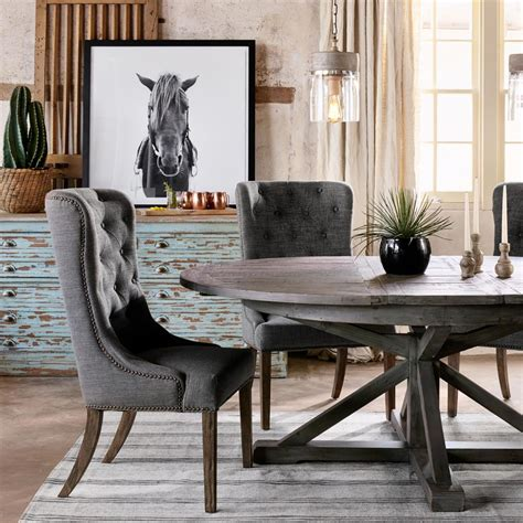 chabert french reclaimed wood extendable  dining