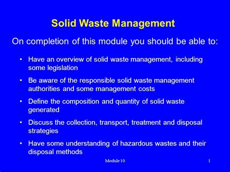 waste management ppt waste management ppt waste management waste management