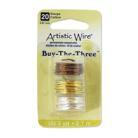 where to buy wire for jewelry artistic wire 3 pack 20 silver brass gunmetal