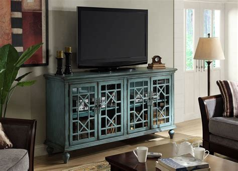 Turquoise Media Cabinet by Shannon Large Geometric Cabinet 5 Colors Statement
