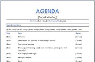 agenda template free meeting agenda template word peerpex