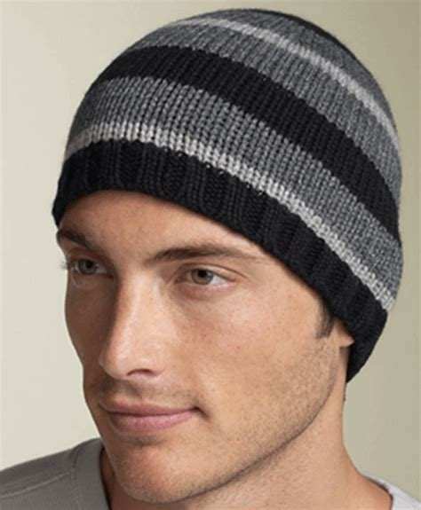 mens knit hat pattern s knit hat stripe pattern hats
