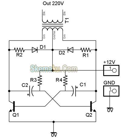 berbagi ilmu rangkaian inverter 12v dc to 220v ac 100 schematic for power inverter power inverters for house