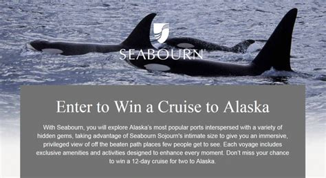 Win A Cruise Sweepstakes - featured sweepstakes win a a seabourn alaska cruise for 2 insideflyer