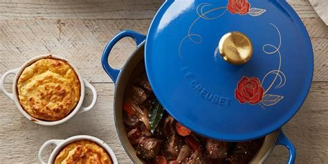 beauty and the beast le creuset le creuset disney pot quot beauty and the beast quot le creuset pot