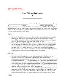testament template best photos of exle of a last will sle last will