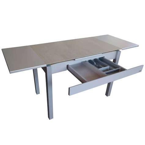 table cuisine avec tiroir table de cuisine extensible en c 233 ramique avec
