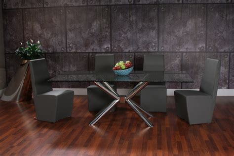 modern dining room sets miami gotham smoked dining set modern dining room miami