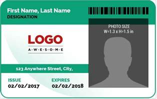 Id Badges Template by Ms Word Photo Id Badge Sle Template Word Excel
