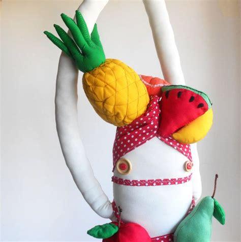 fruit headdress fruit headdress doll zeza miranda ooak plush doll