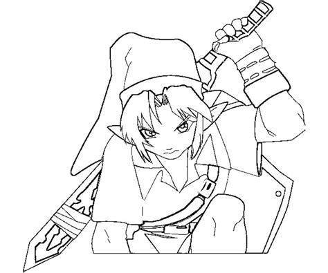 toon link coloring pages printable toon best free