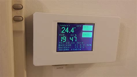 Tablet Wall Mount Diy by Esp8266 Wifi Touch Screen Thermostat