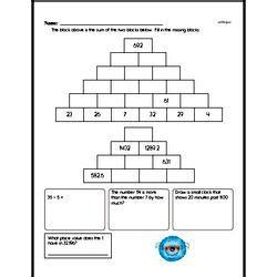 Free Fifth Grade Addition Pdf Worksheets Edhelper Com