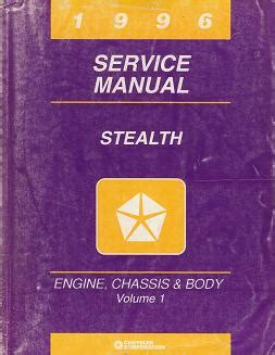 car engine repair manual 1996 dodge stealth electronic throttle control 1996 dodge stealth service manual engine chassis body volume 1