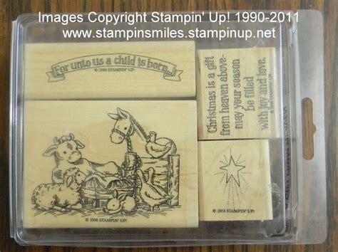 retired stampin  halloween christmas stamp sets  sale