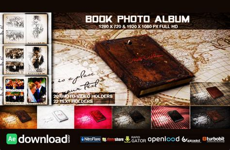 free template after effects photo album book photo album free after effects project videohive