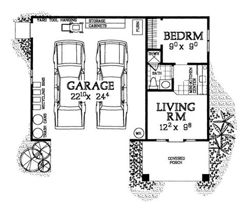 Garage Floor Plans With Living Space by Garages Plans With Living Quarters Woodworking Projects