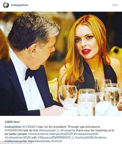 Lindsay Lohan Encouraged To Run For Government lindsay lohan wants to run for president in 2020 as she