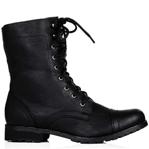 black lace up boots buy flat lace up zip biker ankle boots black leather