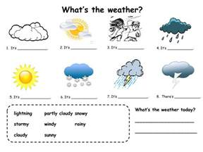What Is The Weather In Today Fill In Practice For Weather Esl