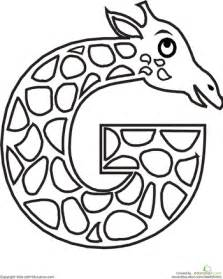 color g animal alphabet letters coloring pages education