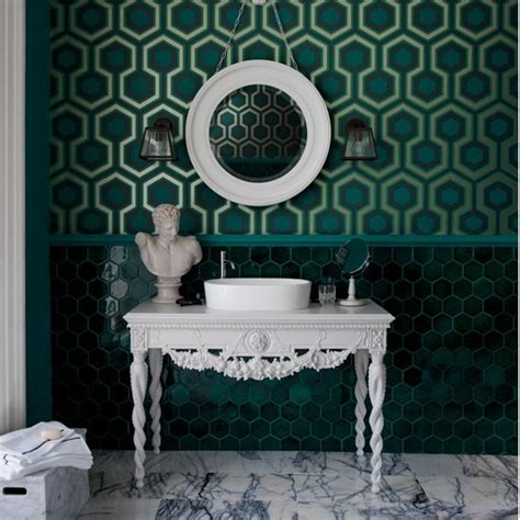 emerald green wallpaper uk geometric green wallpaper colour of the year 2013