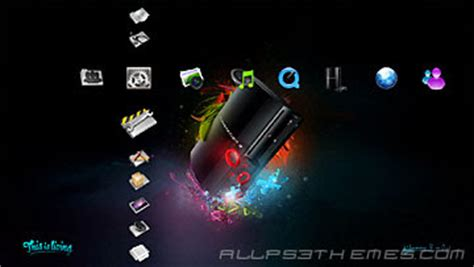mi ps3 themes glossy icons v3 ps3 theme ps3 themes free downloads