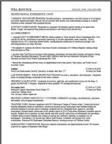 to federal resume sle certified resume
