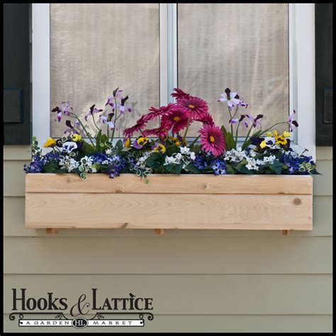 wood window box standard cedar wood window box durable and attractive